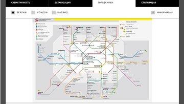 Схема метро на любой вкус