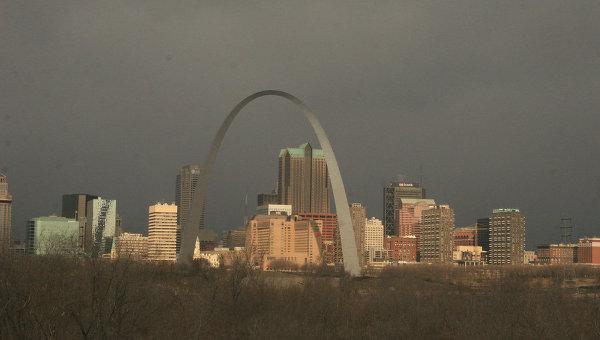Вид на город Сент-Луис, штат Миссури в США