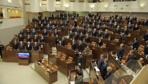 Первое заседание Совета Федерации весенний сессии. Архивное фото