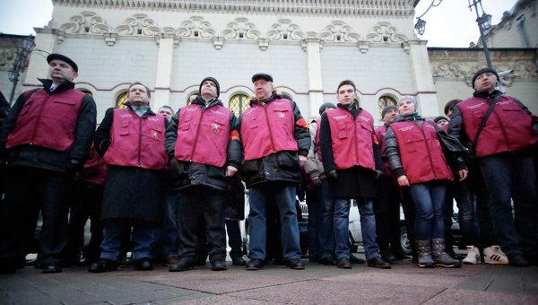 Народные дружинники в Москве