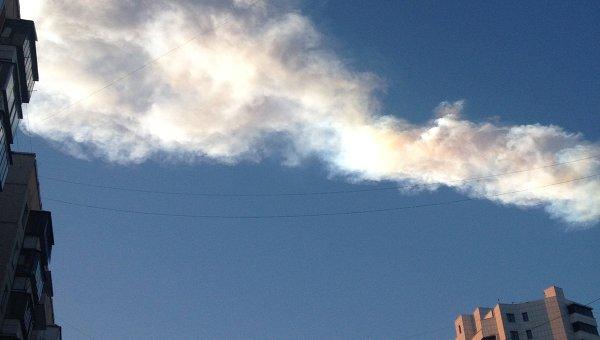 Вспышка в небе над Челябинской областью