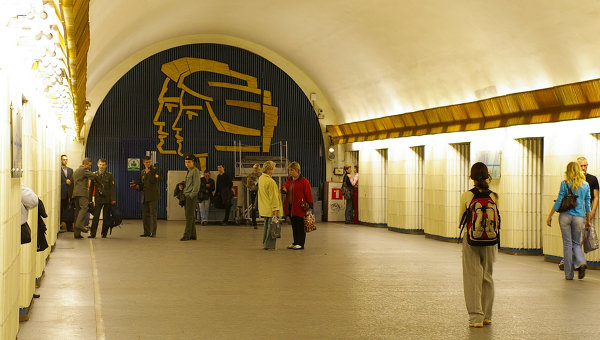 Станция Петроградская Петербургского метрополитена. Архивное фото
