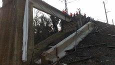 Обрушился пролет железнодорожного моста на перегоне Сочи-Дагомыс