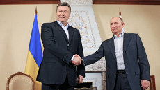 Встреча Владимира Путина с Виктором Януковичем. Архив