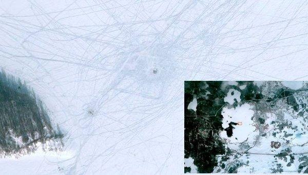 Место падения метеорита в Чебаркуль