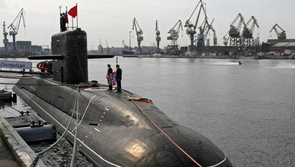 Дизель-электрическая подводная лодка Санкт-Петербург. Архивное фото