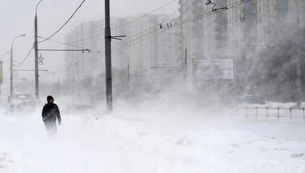 Метель в Москве. Архивное фото