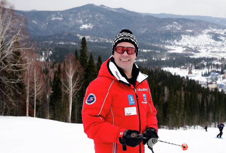 Д.Медведев посетил горнолыжный курорт Шерегеш