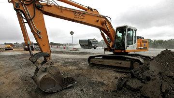 Реконструкция участка автомобильной дороги. Архивное фото