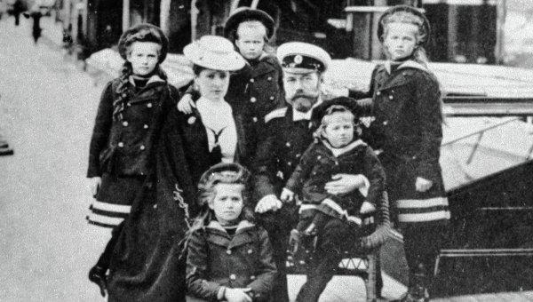 Императорская семья. Архивное фото