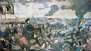 Мозаика М.Ломоносова Полтавская баталия. Архивное фото