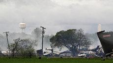 Последствия взрыва на заводе удобрений в Техасе
