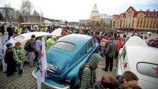 Проводы участников автопробега Победа: одна на всех в Ханты-Мансийске