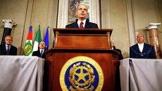 Премьер Италии Энрико Летта объявляет состав нового правительства