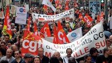 Первомайская демонстрация профсоюзов в Париже
