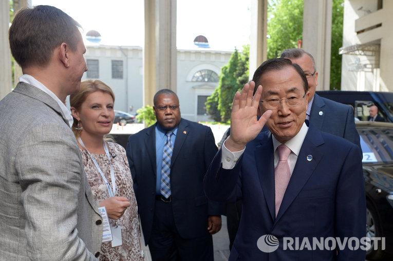 Генсек ООН приехал в РИА Новости
