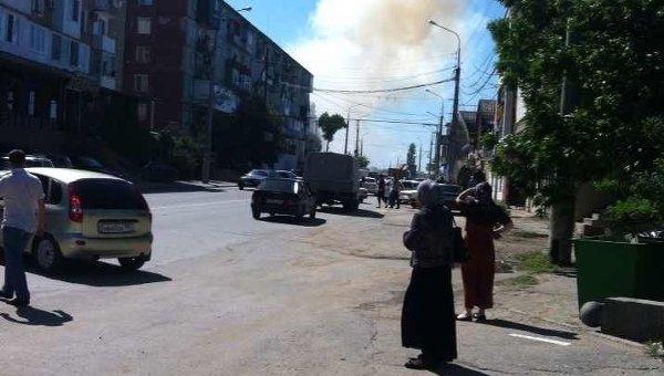 Взрыв прогремел у здания управления службы судебных приставов в Махачкале