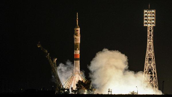 Старт РН Союз-ФГ с пилотируемым кораблем Союз ТМА-09М