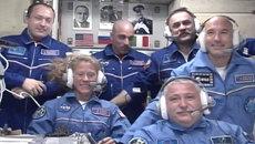 Кадры старта ракеты Союз с экипажем экспедиции на МКС с Байконура