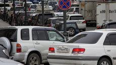Автомобильная пробка во Владивостоке. Архивное фото.
