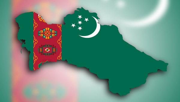 Флаг Туркмении. Архивное фото