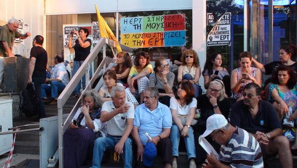 Забастовка журналистов в Греции. Архивное фото