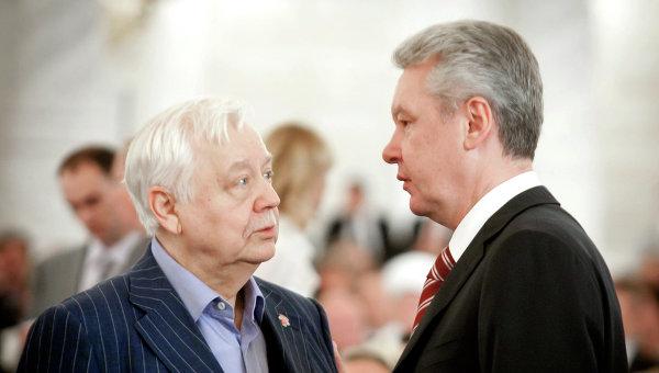 Олег Табаков и Сергей Собянин. Архив