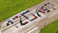 Флешмоб в Новосибирске: 120 лет из автомобилей
