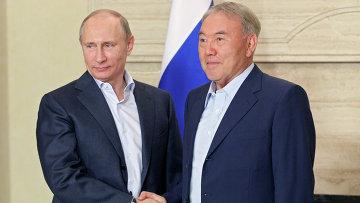 Визит В.Путина в Казахстан. Архивное фото