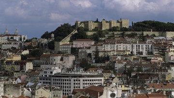 Вид на город Лиссабон. Португалия. Архив