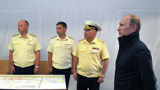 В.Путин посетил остров Гогланд в Финском заливе