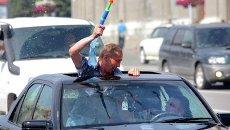 Автомобилисты Новосибирска в жару