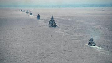 Корабли военно-морского флота РФ. Архивное фото.