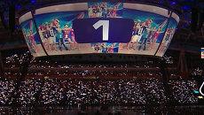 Фейерверк и выступление Медведева - церемония закрытия Универсиады