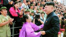 Ким Чен Ын на праздновании 60-ой годовщины окончания Корейской войны