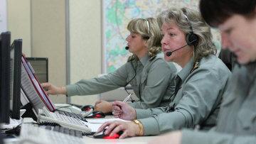 Работа диспетчерской службы МЧС России. Архивное фото