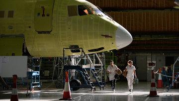 Сборка самолетов Sukhoi Superjet в Комсомольске-на-Амуре. Архивное фото
