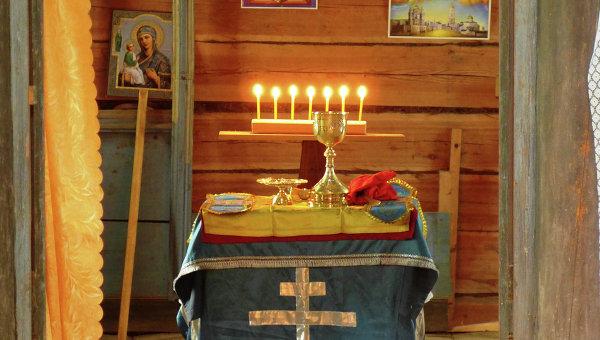 Чаша и богослужебные сосуды найденные в Храме Смоленской иконы Божией Матери