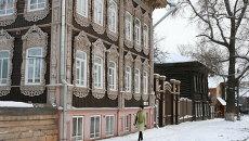 Улица Татарская слобода в Томске - место, где сохранились памятники деревянного зодчества, архивное фото