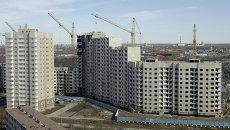 Строительство жилого комплекса. Архивное фото.