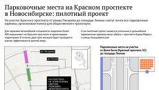 Новая схема парковок на Красном проспекте в Новосибирске
