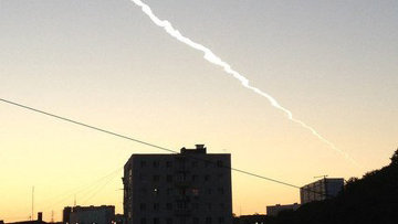Жители Владивостока видели, как над городом пролетел метеорит