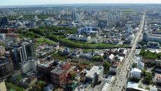 Смотровая площадка на небоскребе Высоцкий в Екатеринбурге. Архивное фото