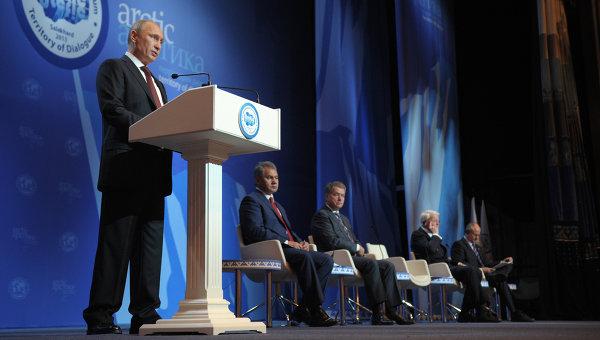 В.Путин на Международном арктическом форуме в Салехарде