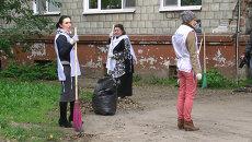 Грабли вместо микрофонов: томские журналисты вышли на субботник