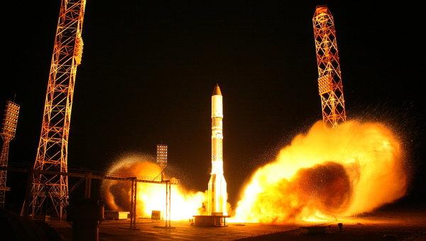 Запуск ракеты-носителя Протон-М, архивное фото