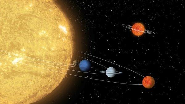 Планетная система звезды 55 в созвездии Рака (55 Cnc)