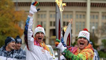 Эстафета Олимпийского огня. Москва. День 2