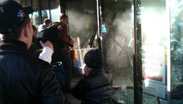 Во время погрома в ТЦ в Бирюлево