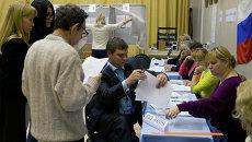 На избирательном участке после окончания выборов мэра Томска, архивное фото